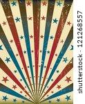 grunge tricolor sunbeam. an old ... | Shutterstock .eps vector #121268557