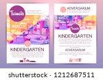 vector brochures with cartoon...   Shutterstock .eps vector #1212687511