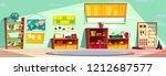 montessori kindergarten... | Shutterstock .eps vector #1212687577