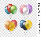 different color flying balloon... | Shutterstock .eps vector #1212689584