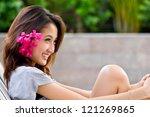 portrait beautiful asian girl | Shutterstock . vector #121269865