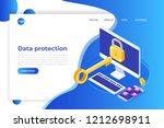 data protection  internet... | Shutterstock .eps vector #1212698911