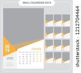 wall calendar 2019  template... | Shutterstock .eps vector #1212704464
