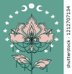 esoteric banner with flower ... | Shutterstock .eps vector #1212707134
