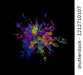 3d render background with... | Shutterstock . vector #1212710107