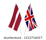 national fabric flags of great... | Shutterstock . vector #1212716017