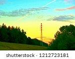 pylon power line stands in the... | Shutterstock . vector #1212723181