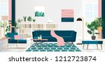 interior design of the living... | Shutterstock .eps vector #1212723874