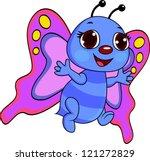 butterfly cartoon | Shutterstock .eps vector #121272829