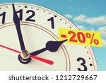 time for a twenty percent... | Shutterstock . vector #1212729667