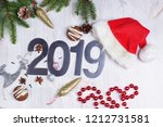 christmas layout with numbers... | Shutterstock . vector #1212731581