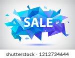 vector set of sale faceted... | Shutterstock .eps vector #1212734644