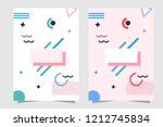pink and white background... | Shutterstock .eps vector #1212745834