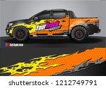 car decal  truck and cargo van... | Shutterstock .eps vector #1212749791