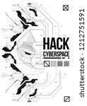 cyberpunk futuristic poster... | Shutterstock .eps vector #1212751591