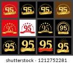 set of number ninety five  95... | Shutterstock .eps vector #1212752281