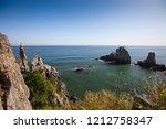 beautiful nature sea landscape. ...   Shutterstock . vector #1212758347