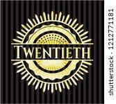 twentieth gold badge | Shutterstock .eps vector #1212771181
