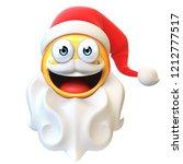 santa claus emoji  emoticon... | Shutterstock . vector #1212777517