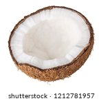 coconut isolated on white... | Shutterstock . vector #1212781957