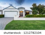 front elevation   facade of a... | Shutterstock . vector #1212782104