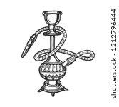 hookah engraving vector... | Shutterstock .eps vector #1212796444