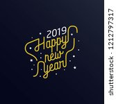 happy new year 2019 golden... | Shutterstock .eps vector #1212797317