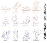 set of child health and... | Shutterstock .eps vector #1212807847
