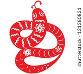 chinese new year snake | Shutterstock .eps vector #121280821