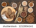 high fibre natural health food... | Shutterstock . vector #1212836161