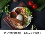 traditional malay indonesian... | Shutterstock . vector #1212844057