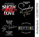 fashion slogan tee  fashion... | Shutterstock .eps vector #1212857254