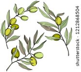 olive tree in a vector style... | Shutterstock .eps vector #1212868504