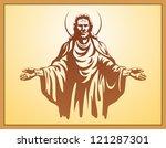 jesus christ  blessing ... | Shutterstock . vector #121287301
