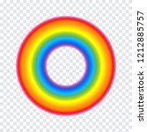 colorful round rainbow frame... | Shutterstock .eps vector #1212885757