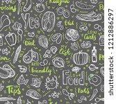 ketogenic food vector seamless... | Shutterstock .eps vector #1212886297