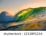 Ocean Barrel Wave At Sunset....