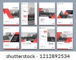 abstract white a4 brochure... | Shutterstock .eps vector #1212892534