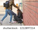 schoolyard bullies  later...   Shutterstock . vector #1212897214