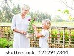 beautiful caucasian mother and... | Shutterstock . vector #1212917344