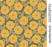 floral seamless pattern...   Shutterstock . vector #1212918721