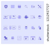 modern flat icons set of cyber... | Shutterstock .eps vector #1212927727