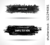 set of grunge banners.... | Shutterstock .eps vector #121294081