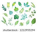 hand drawn leaves   Shutterstock .eps vector #1212955294