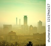 vintage foggy faded city... | Shutterstock . vector #1212966217