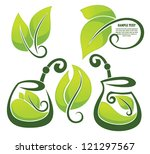 green tea  and mate  vector... | Shutterstock .eps vector #121297567