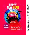 new year party backgrounds... | Shutterstock .eps vector #121297801