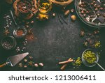 dark chocolate background for... | Shutterstock . vector #1213006411