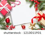 christmas background with paper ... | Shutterstock . vector #1213011931
