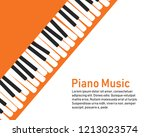 grunge black and white piano... | Shutterstock .eps vector #1213023574